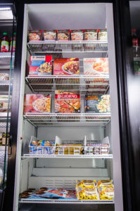 Micro-market freezer section in Greenville, Spartanburg, and Anderson, South Carolina