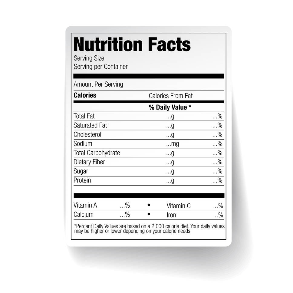 Ingredients and Nutrition Labels in Greenville, Spartanburg, and Anderson, South Carolilna